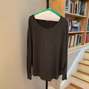 Vince cotton front silk back pullover